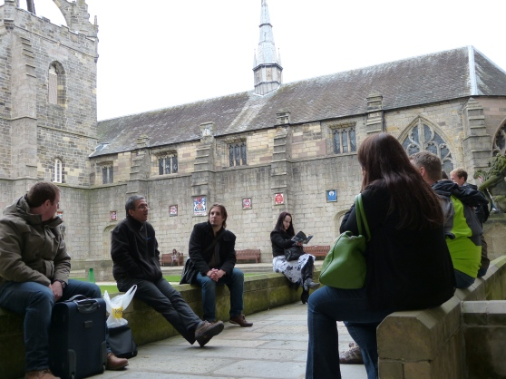 Discussing ideas at Northern Lights 2013, University of Aberdeen