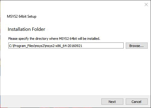 msys2installationrootdirectory